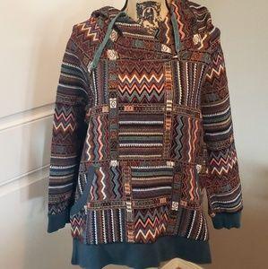 Jackets & Blazers - Tribal Pattern Hoodie
